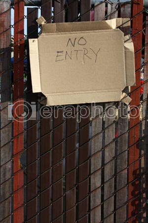 #2000002 - Door with No Entry sign