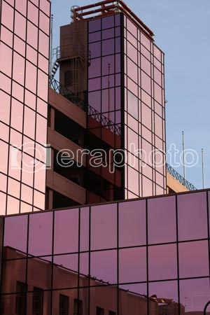 #2000007 - Tall purple building on sky background
