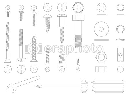 #2000014 - Screws and tools