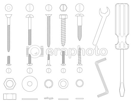 #2000015 - Screws and tools