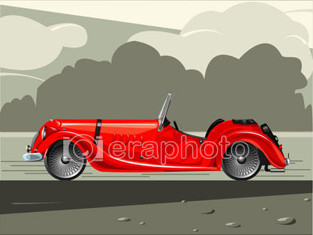 #2000019 - Red sports car