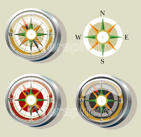 #2000038 - Compass with wind rose