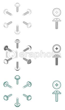 #2000047 - Computer screws, round