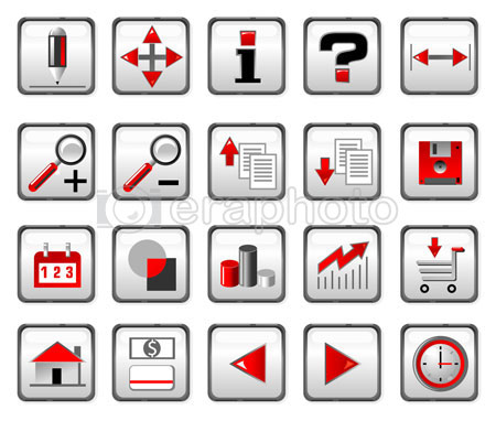 #2000072 - Red and black computer icons