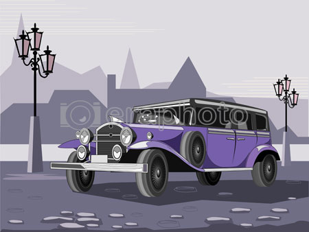 #2000073 - Purple retro car