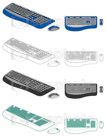 #2000074 - Computer keyboard and mouse
