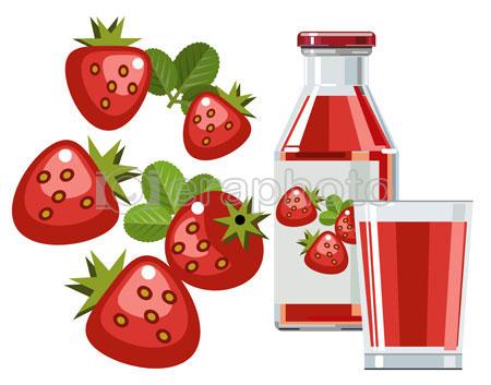 #2000087 - Strawberry juice or smoothie