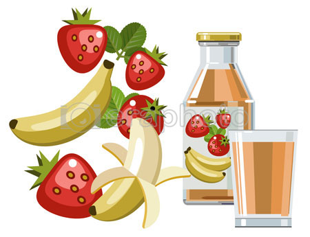 #2000088 - Strawberry and banana juice or smoothie