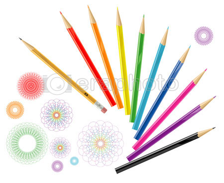 #2000143 - Color pencils with design elements