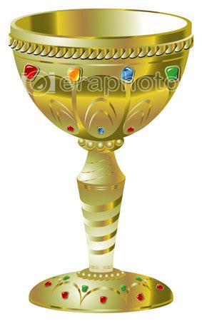 #2000150 - Golden goblet with precious stones