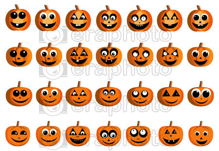 #2000159 - Happy pumpkin faces