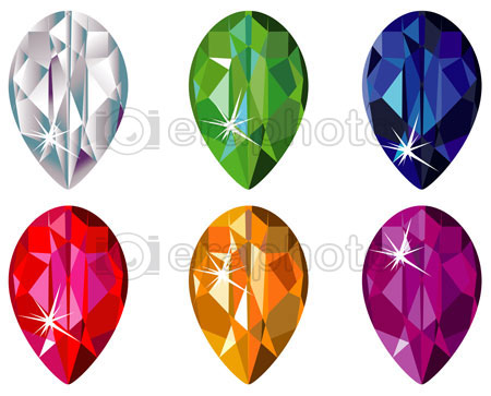 #2000171 - Pear cut precious stones with sparkle