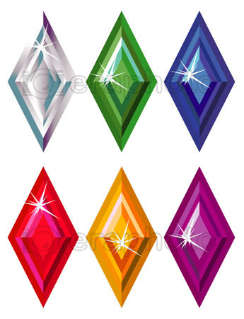 #2000179 - Rhombus or kite cut precious stones with sparkle
