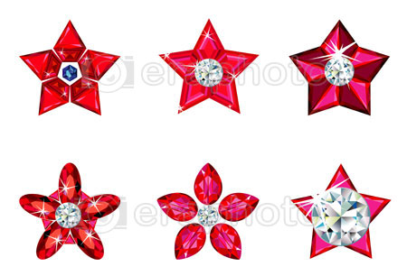 #2000220 - Set of Christmas ornament stars