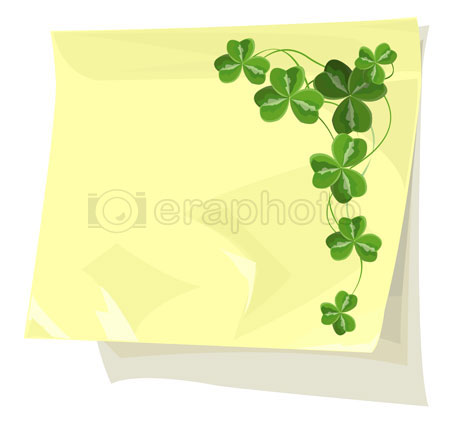 #2000243 - Shamrock on sticky paper