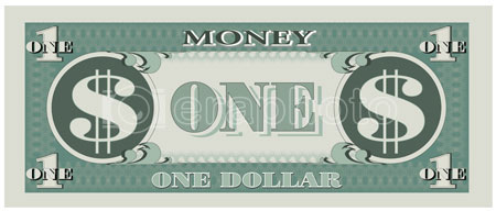 #2000250 - Game money - one dollar bill