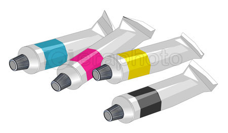 #2000253 - Four tubes of paint - cyan, magenta, yellow and black