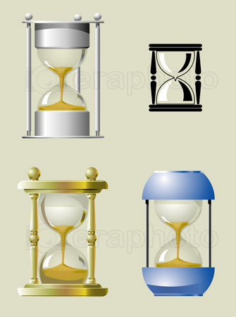 #2000263 - Sand clock in different styles