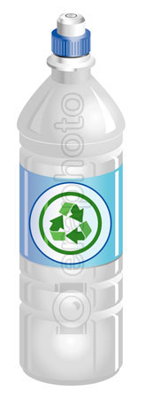 #2000270 - Water bottle with recycle symbol