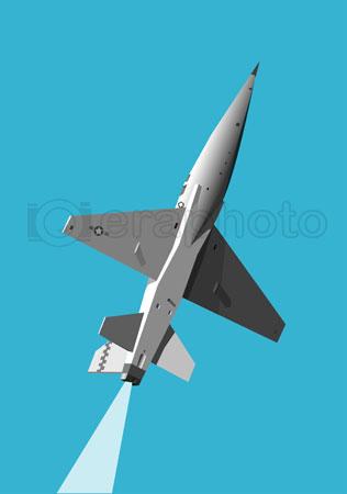 #2000272 - Military jet gaining height