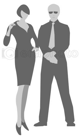 #2000284 - Illustration of man and woman silhouettes