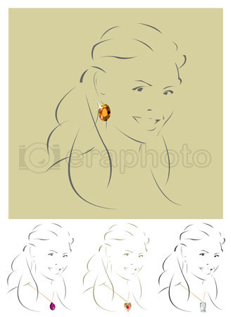 #2000286 - Illustration of beautiful jewelry model