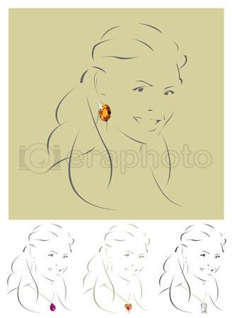 #2000286 - Illustration of beautiful jewelry model