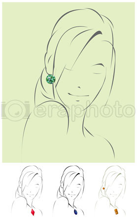 #2000287 - Illustration of beautiful jewelry model