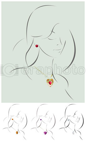 #2000288 - Illustration of beautiful jewelry model
