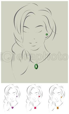 #2000289 - Illustration of beautiful jewelry model