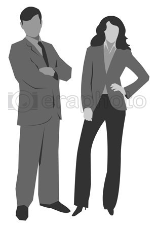 #2000290 - Illustration of man and woman silhouettes