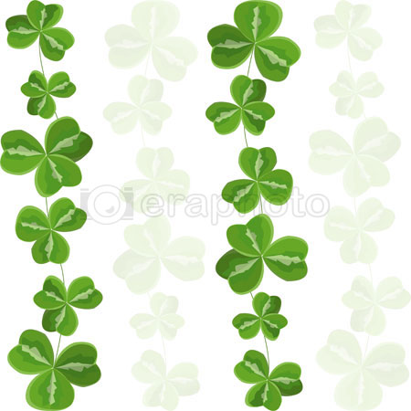 #2000294 - Seamless pattern shamrock background
