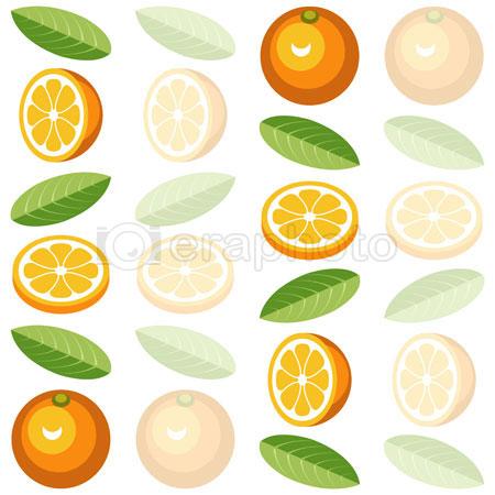 #2000295 - Seamless background pattern with oranges, orange