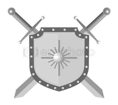 #2000299 - Illustration of shield and two swords