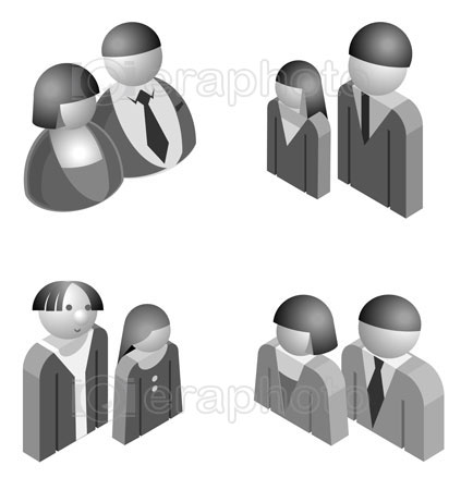 #2000301 - Illustration of male and female 3D characters