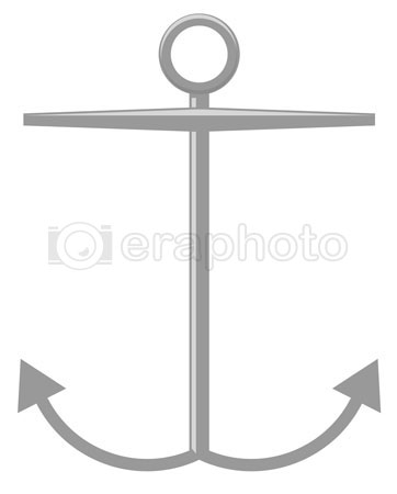 #2000338 - Simple black and white anchor