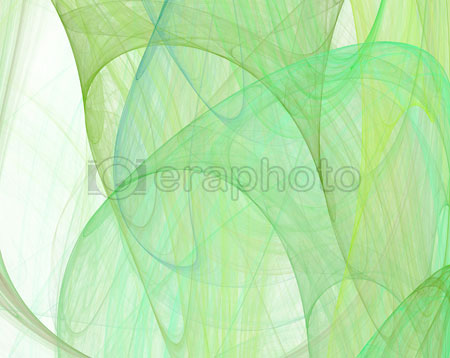 #2000393 - Abstract green silk background on white