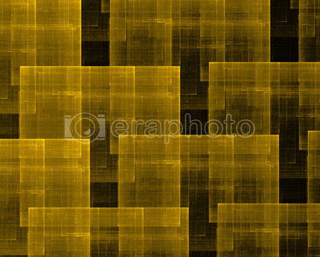 #2000405 - Golden squares on black background