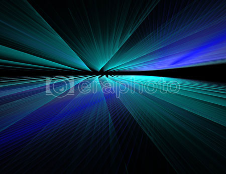 #2000409 - Abstract blue waves on black background with horizon effect