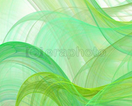 #2000413 - Abstract green silk