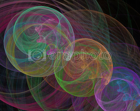#2000415 - Multicolored swirls on black background