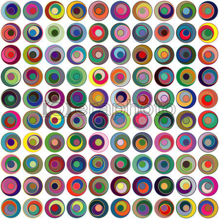 #2000416 - Abstract geometric background made of circles
