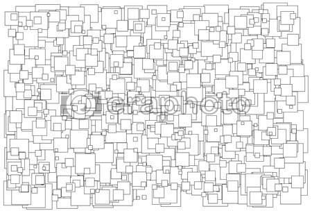 #2000422 - Background made of various size squares, black and white