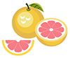 #2000059 - Grapefruit with half and slice