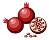 #2000106 - Simple pomegranates with seeds