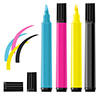 #2000141 - Four markers - cyan, magenta, yellow and black