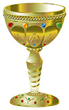 #2000150 - Golden goblet with precious stones