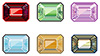 #2000165 - Precious stones with emerald cut