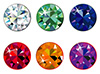 #2000166 - Round cut precious stones with sparkle
