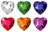 #2000170 - Heart cut precious stones with sparkle